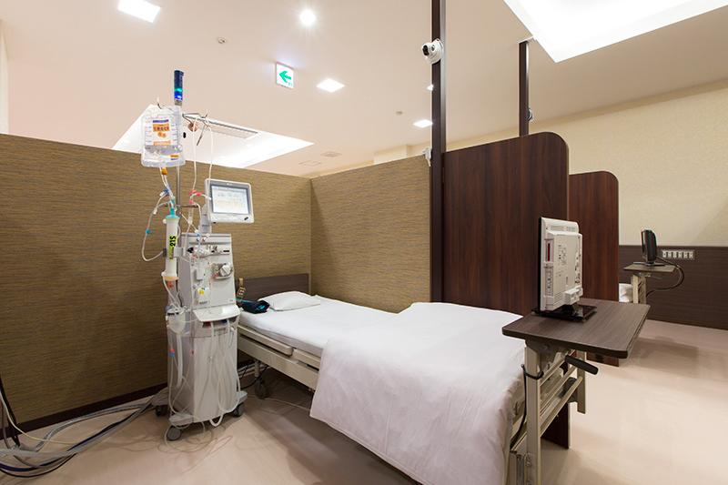 半個室でストレスなく透析を受けられます。